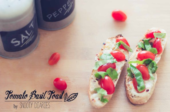 Tomato-Basil-Cottage Cheese Toast