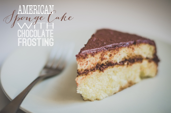 American Sponge Cake with Chocolate Frosting